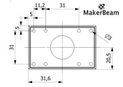 Drawing Nema17 stepper bracket