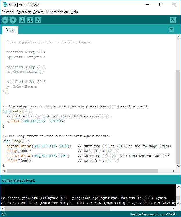 Arduino Blink code