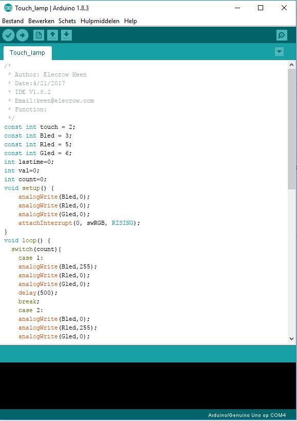 Touch_lamp_code Arduino