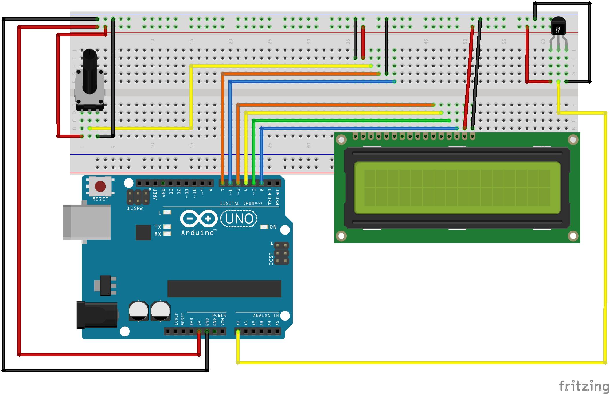 Arduino thermometer schema