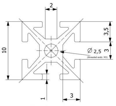 MakerBeam dimensions
