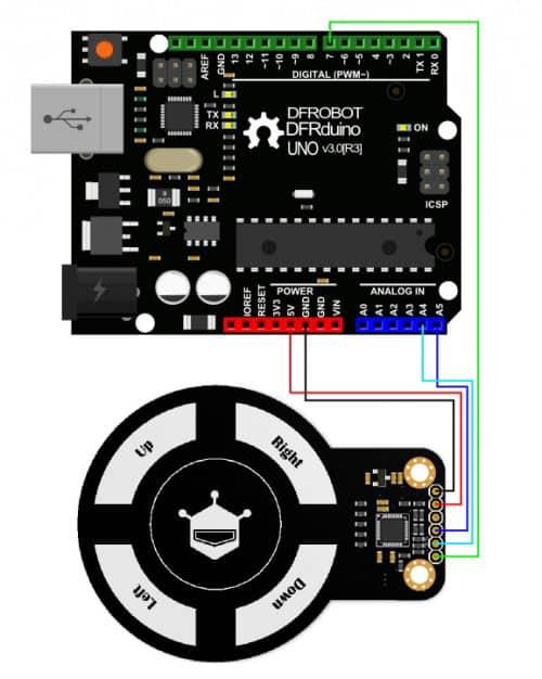 Arduino Gesture sensor scheme