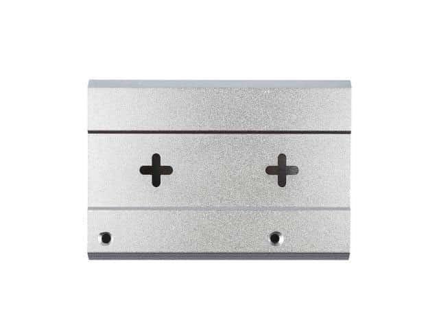 RPI 3B+ Behuizing zilver achterkant
