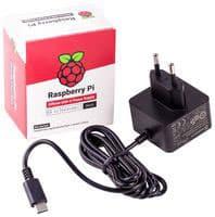 Raspberry Pi 4B Voeding zwart