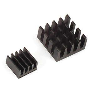 Setje zwarte heatsinks voor Raspberry Pi