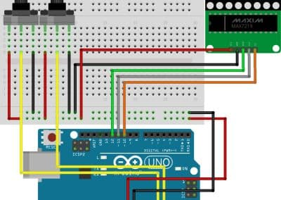Arduino LED Matrix Fritzing Schema