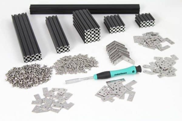 Makerbeam black starter kit