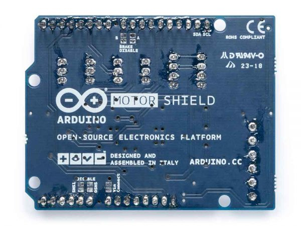 Arduino motor shield back