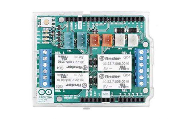 Arduino relais shield voorkant