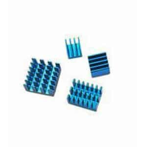 Raspberry Pi 4B heatsink set blauw