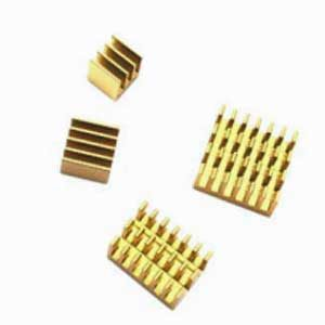Heatsink set goud
