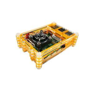 Acryl behuizing Oranje Transparant Raspberry Pi 4