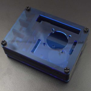 RPI 4 Acryl behuizing blauw
