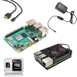 Raspberry Pi 4B Starter Kit mit Kühlkörpergehäuse