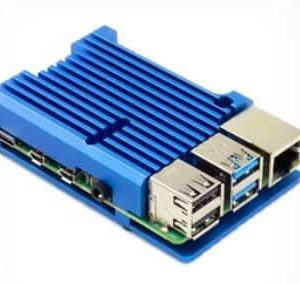 Raspberry Pi 4 Heatsink case blauw