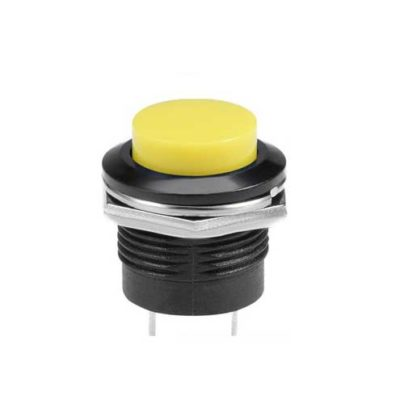 16mm Impulstaster gelb