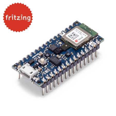 Arduino Nano 33 BLE Sense board met headers - gratis fritzing bestand