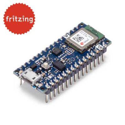 Arduino Nano 33 BLE Board mit Headern - kostenlose Fritzing-Datei