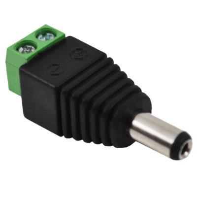Mâle 2.1 * 5.5mm pour prise de connecteur d'adaptateur de prise d'alimentation CC