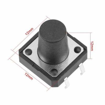 Push button 12x12x12mm afmeting