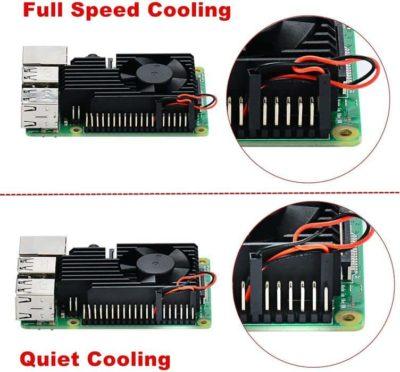 Raspberry Pi cooling kit instellingen