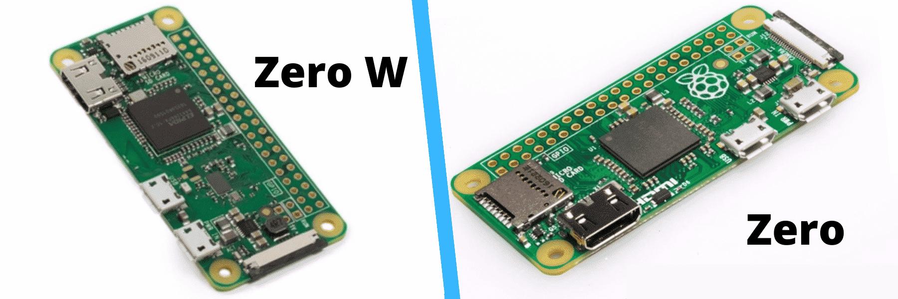 Verschil Raspberry Pi Zero / Zero W