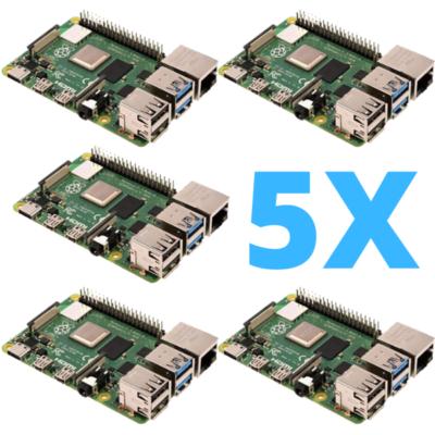 Raspberry Pi 4 Großpackung 5 Stück