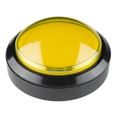 100mm arcade knop geel