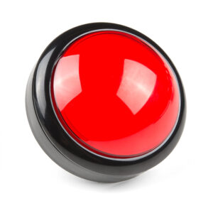 100mm arcade knop rood