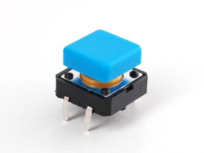 quadratischer Druckknopf blau