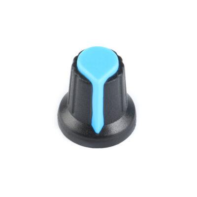 Potentiometer knop blauw