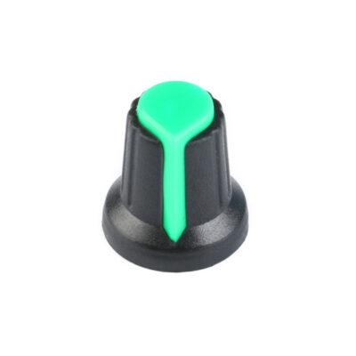 Potentiometer knop groen