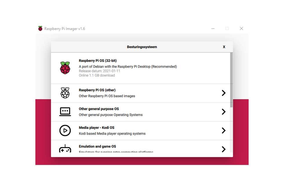 V1.6 Raspberry Pi Imager