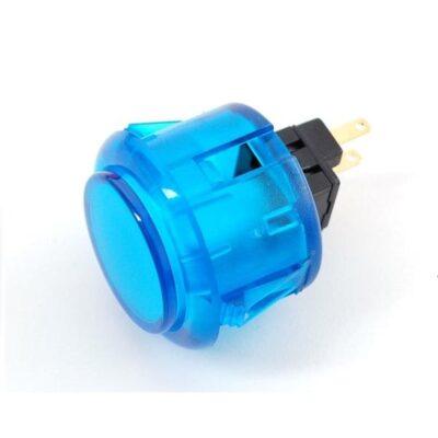 translucent blue arcade button 30mm