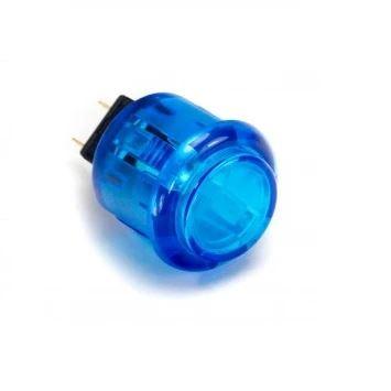 30mm button transparent blue
