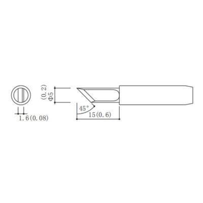 Schéma de la panne à souder MP001718